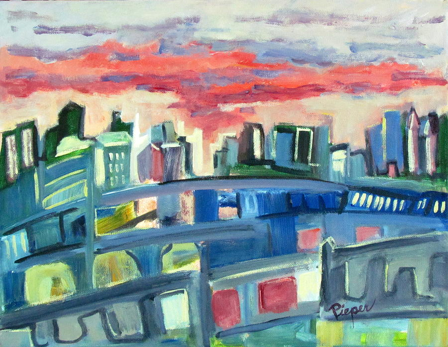 Cityscape Painting - Home To The Softer Side Of City by Betty Pieper