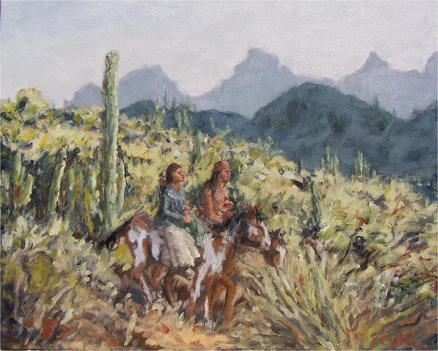 Apache Indians Painting - Honeymoon Trail by Gretchen Price