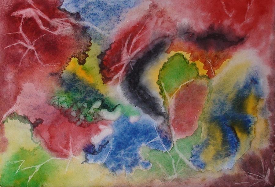 Abstract Painting Painting - Hope Energy by Georgeta  Blanaru