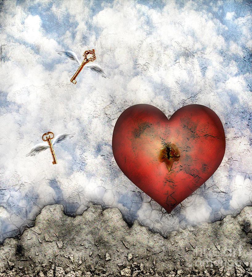 Heart Digital Art - Hope Floats by Jacky Gerritsen