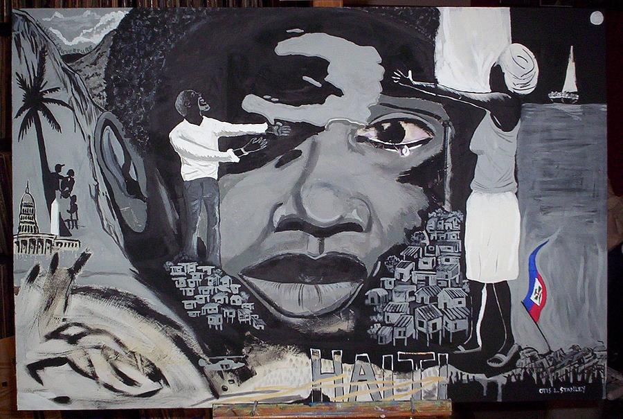 Suffering Painting - Hope For Haiti by Otis L Stanley