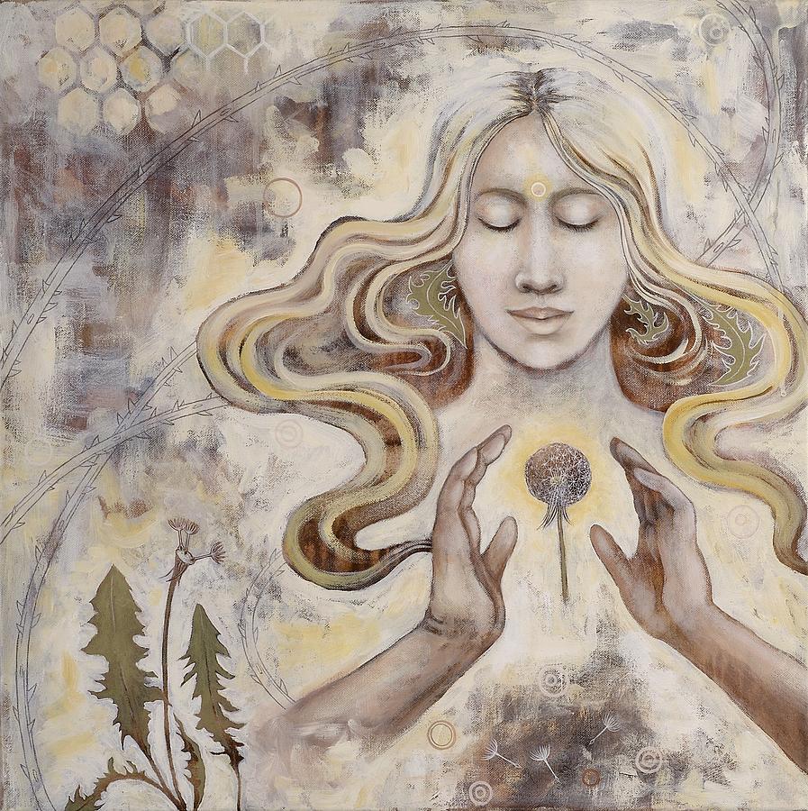 Dandelion Paintings Painting - Hope by Sheri Howe