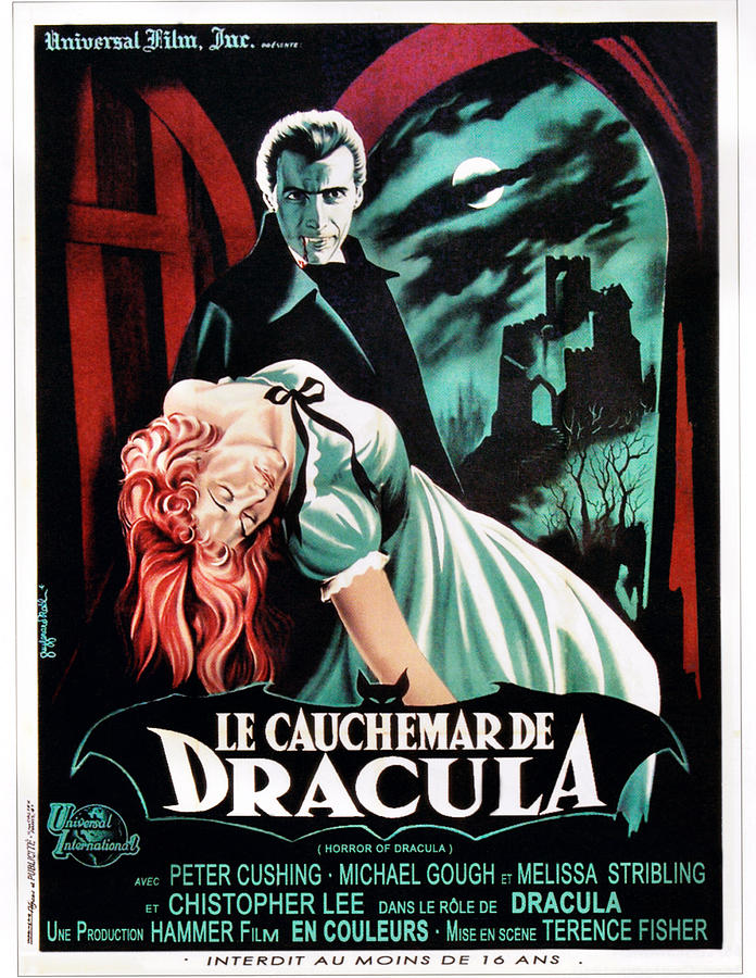 1950s Poster Art Photograph - Horror Of Dracula Aka Le Cauchemar De by Everett