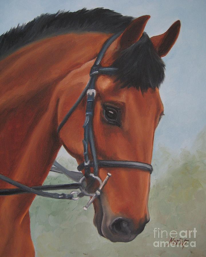 Noewi Painting - Horse Portrait by Jindra Noewi