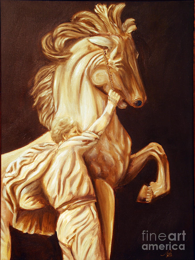 Horse Painting - Horse Statue by Nancy Bradley