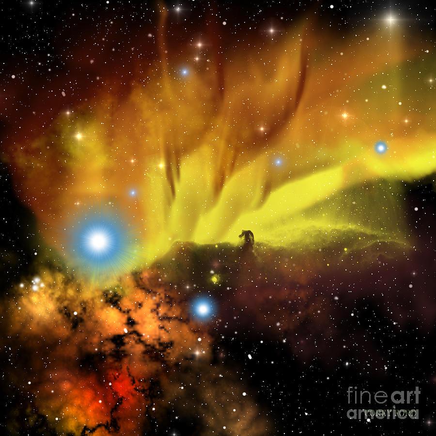 Horsehead Nebula Painting - Horsehead Nebula by Corey Ford
