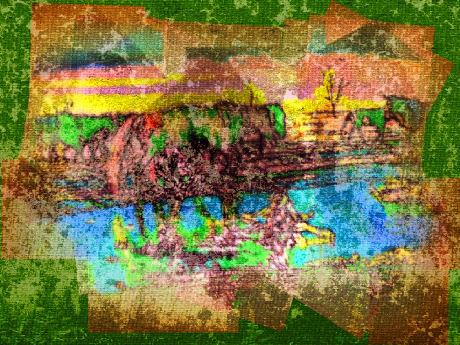 Horses And Water Digital Art