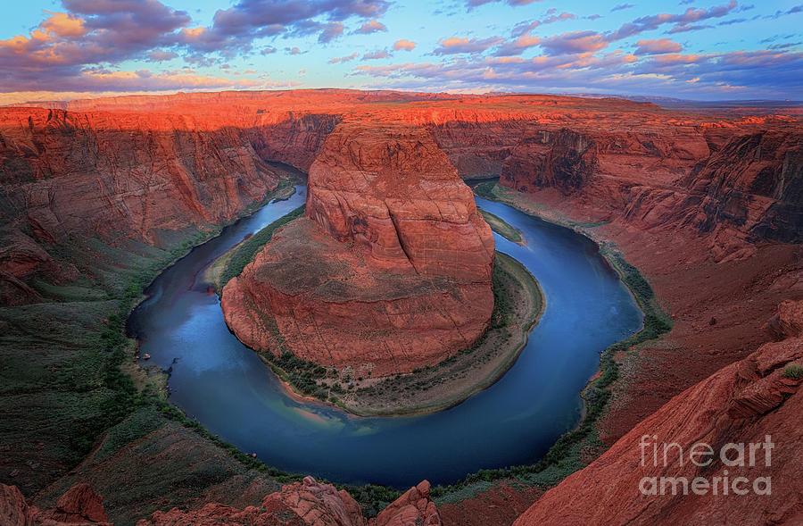America Photograph - Horseshoe Bend Sunrise by Inge Johnsson