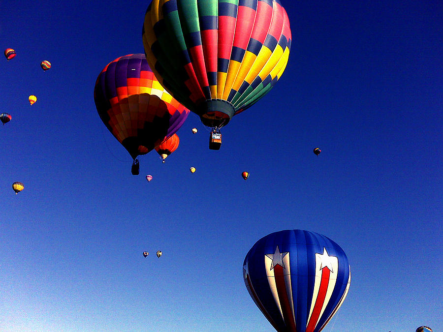 Celebration Painting - Hot Air Balloons by Jera Sky