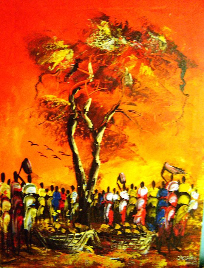 Hot Market Scene Painting
