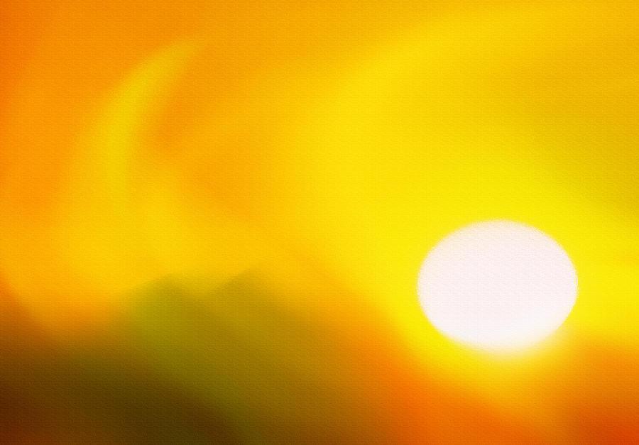 Sunset Photograph - Hot Summer Sun 2 by Steve Ohlsen