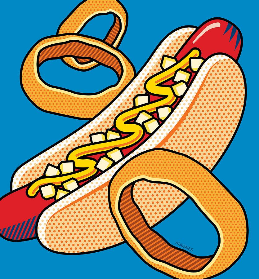 Hot Dog Pop Art