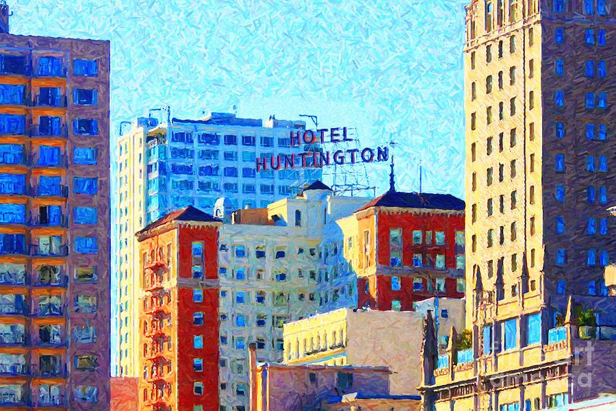 San Francisco Photograph - Hotel Huntington by Wingsdomain Art and Photography