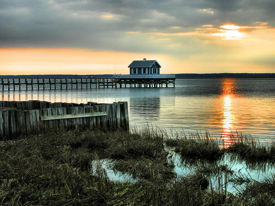 Home Photograph - House At The End Of The Pier II by Steven Ainsworth