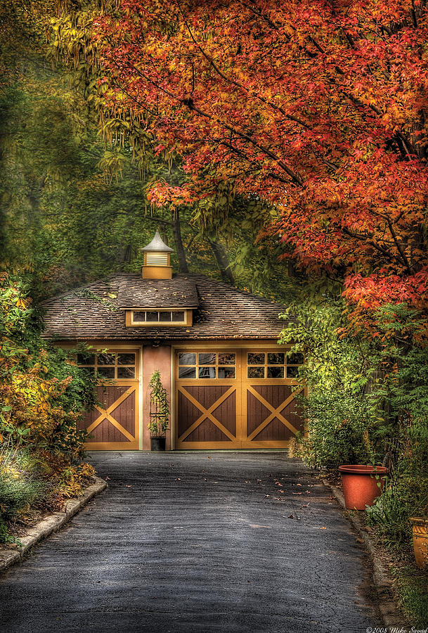 Savad Photograph - House - Classy Garage by Mike Savad