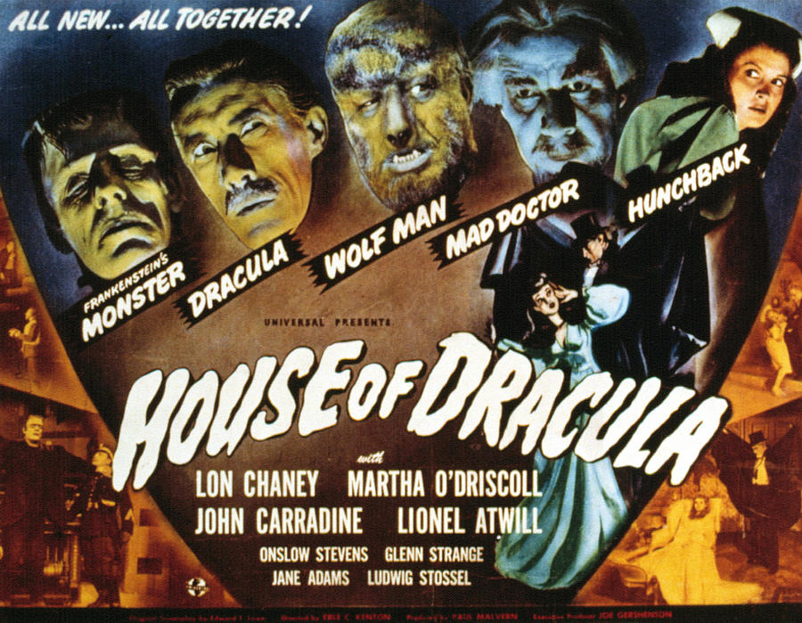1940s Movies Photograph - House Of Dracula, Glenn Strange, John by Everett