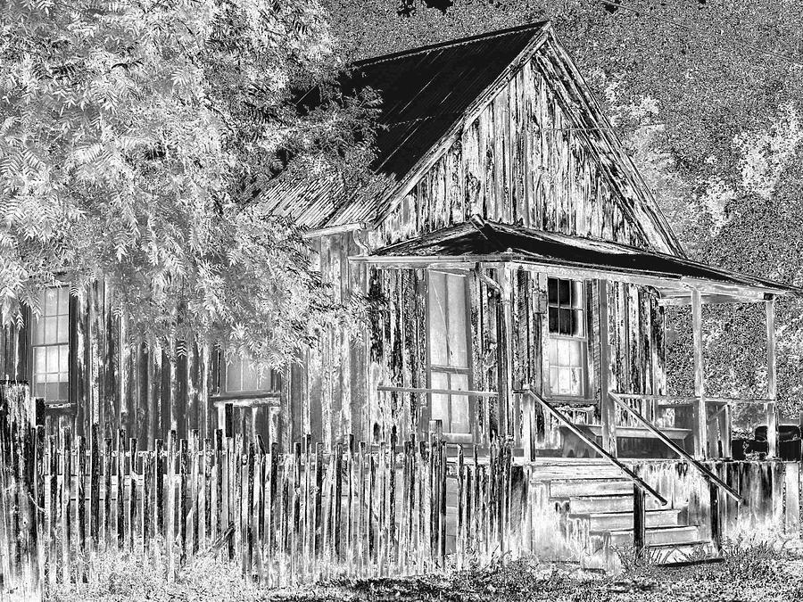 House Photograph - House On The Hill by Athala Carole Bruckner