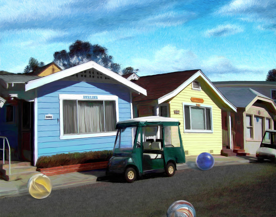 Houses Digital Art - Houses In A Row by Snake Jagger
