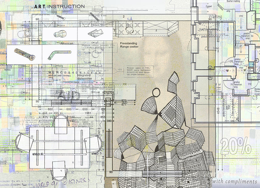 Architectural Art Digital Art - How To Make Not Art  Part 1  by Andy  Mercer