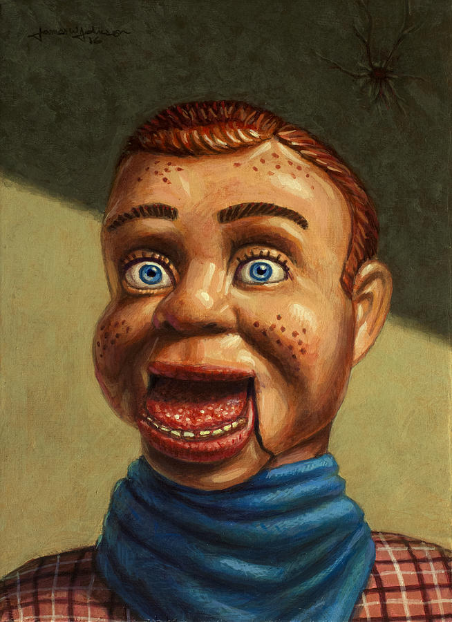 Howdy Doody Painting - Howdy Doody Dodged A Bullet by James W Johnson