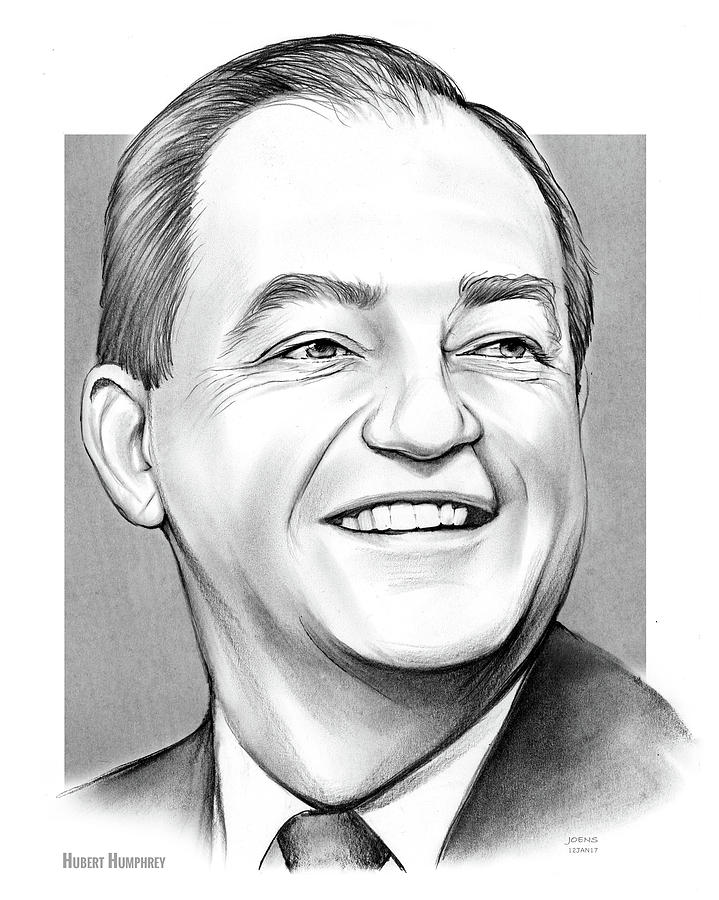 Hubert Humphrey Drawing
