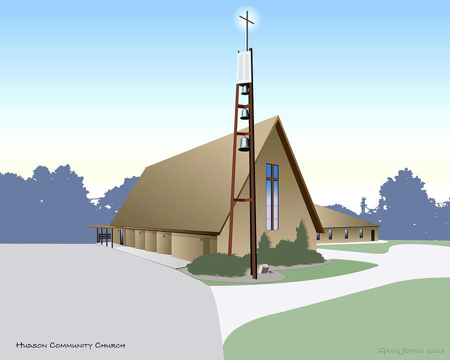 Hudson Community Church Digital Art