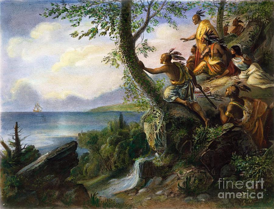 1609 Painting - Hudson: New York, 1609 by Granger