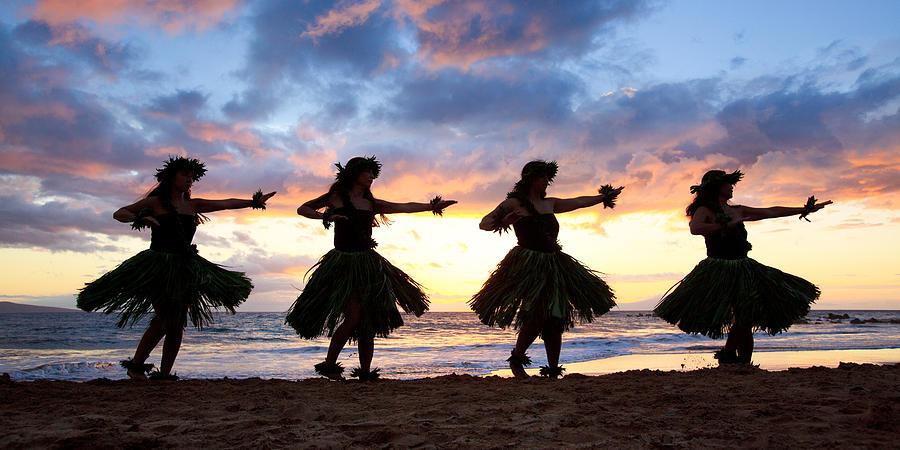 Hawaii Photograph - Hula At Sunset by David Olsen