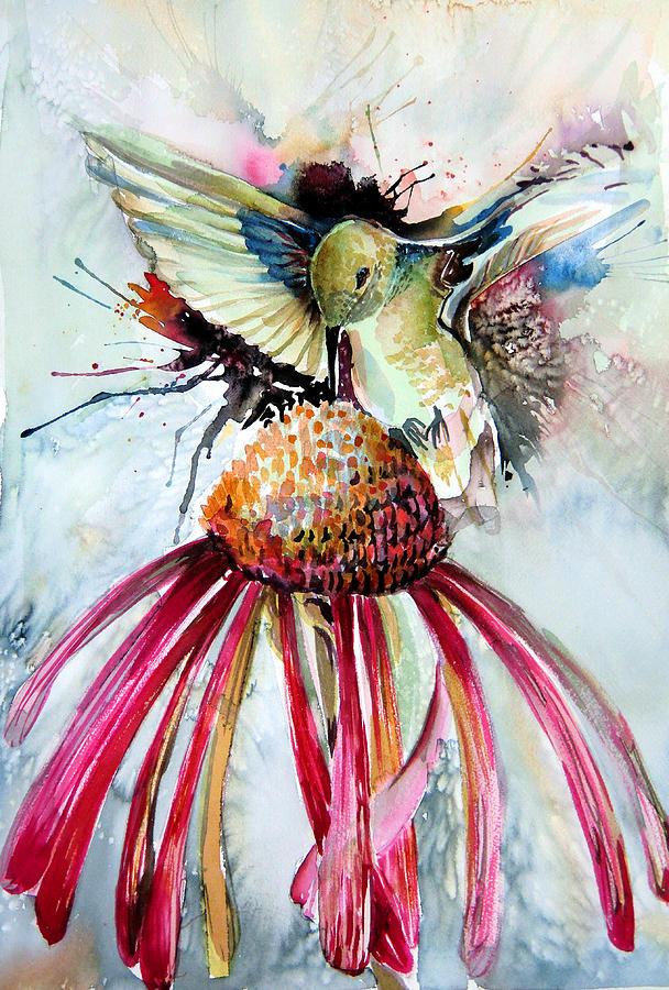 Humming Bird Painting - Humming Bird by Mindy Newman