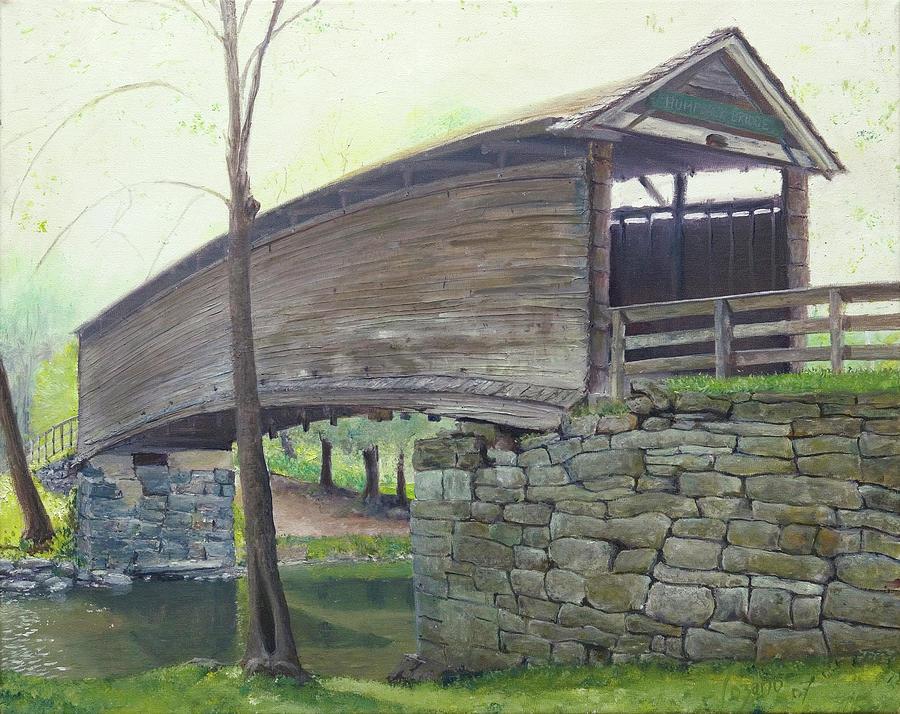 Humpback Bridge Painting - Humpback Bridge by J Luis Lozano