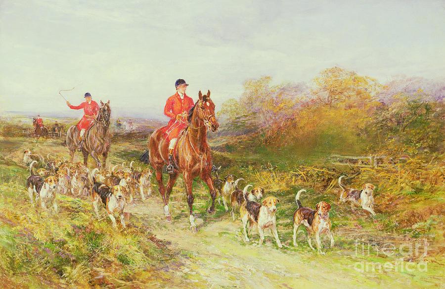 Hunting Scene Painting By Heywood Hardy