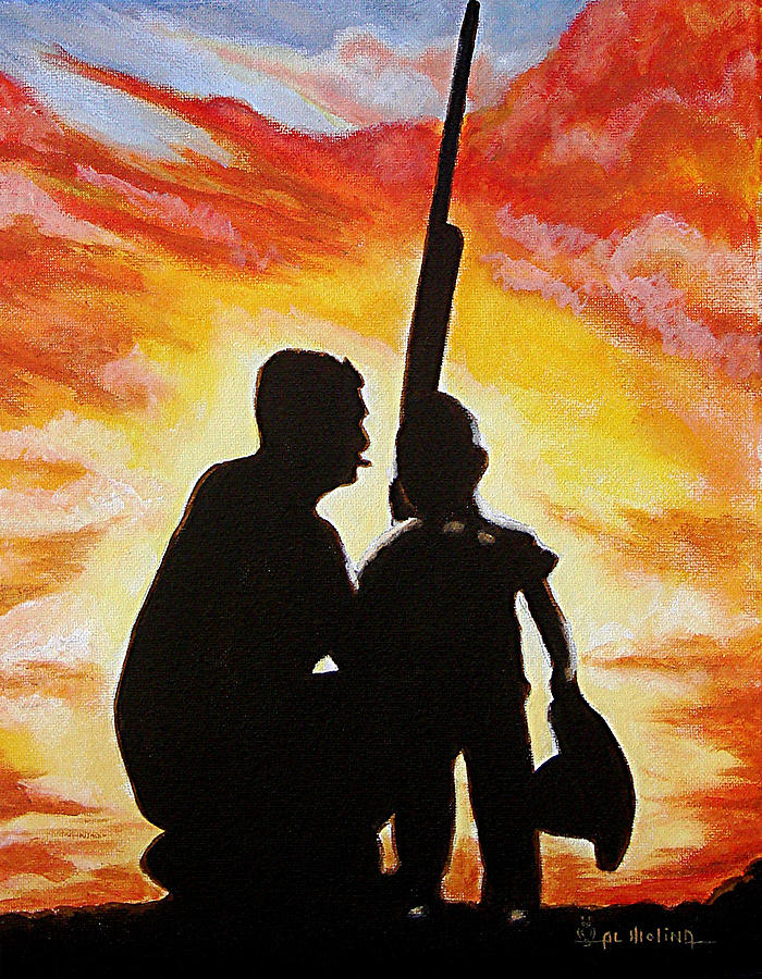 Hunting Painting - Hunting With My Dad by Al  Molina