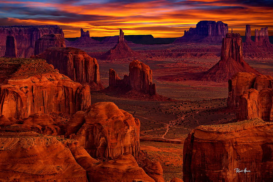 Hunts Mesa Lookout Over Monument Valley Photograph By Russ
