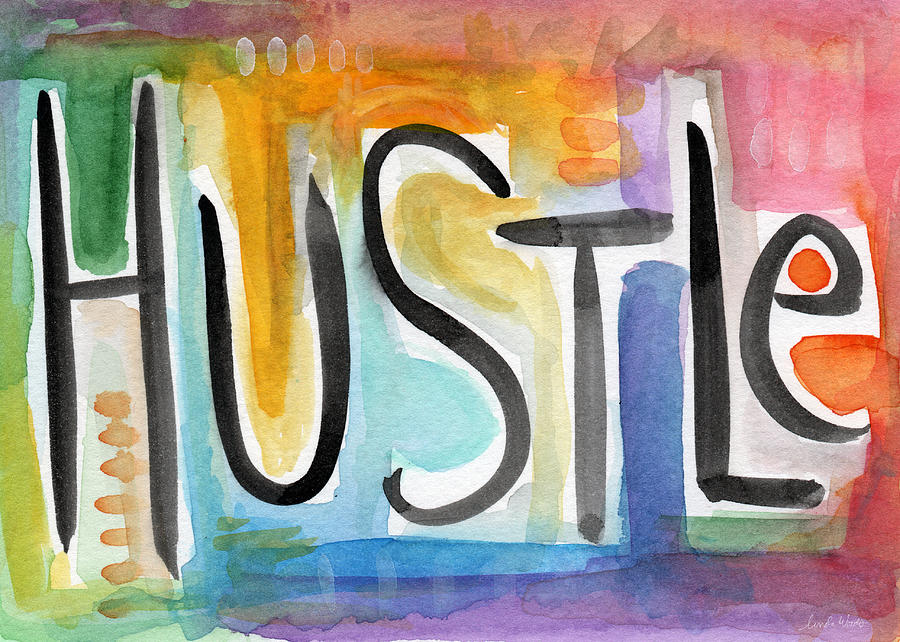 Hustle- Art By Linda Woods Painting