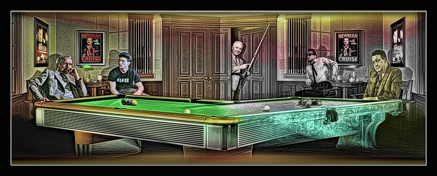 Hustlers mosconi digital art by draw shots for Tv show pool hustlers