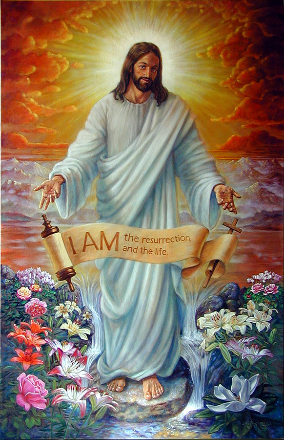 Jesus Christ Painting - I Am The Resurrection by John Lautermilch