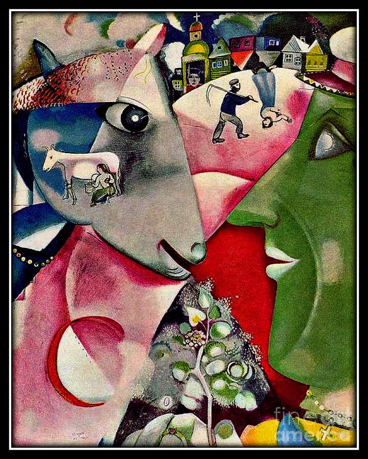 I And The Village Painting by Marc Chagall