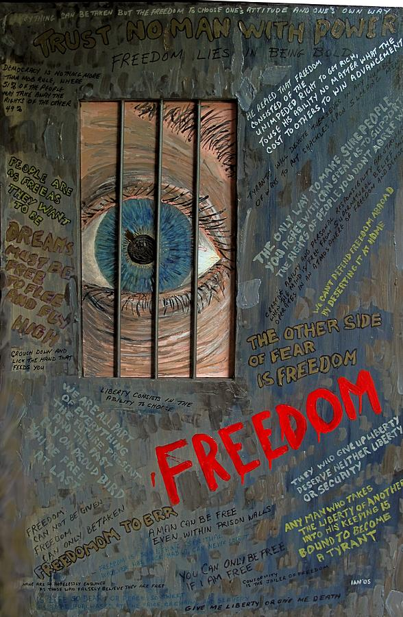Prison Mixed Media - I Can See Freedom by Ian Duncan MacDonald