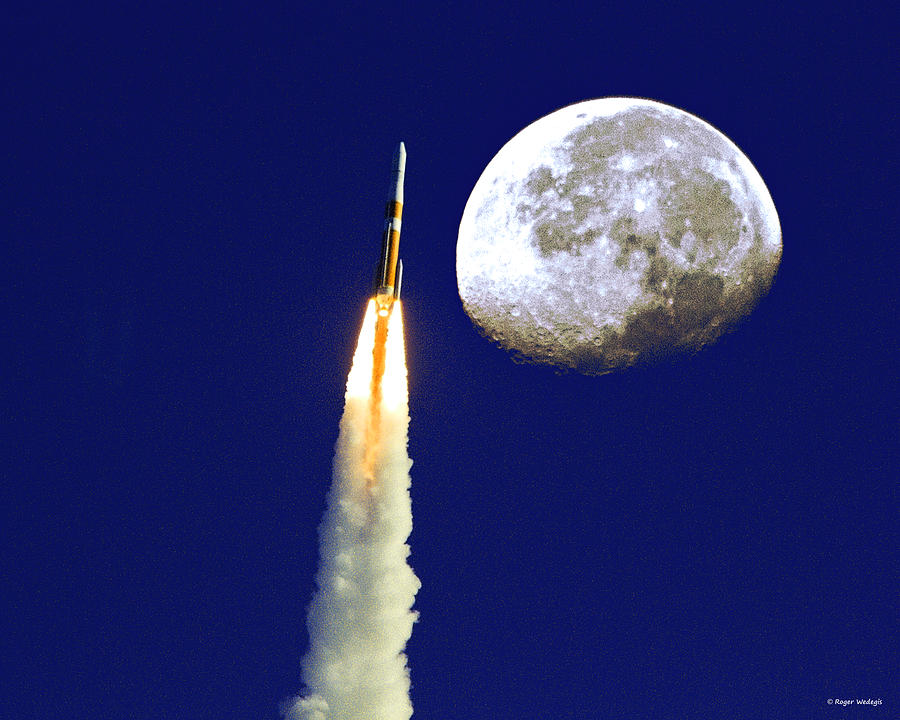 Moon. Rocket Photograph - I Need My Space by Roger Wedegis