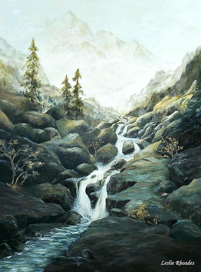 Leslie Rhoades Painting - I Nostri Montagna by Leslie Rhoades