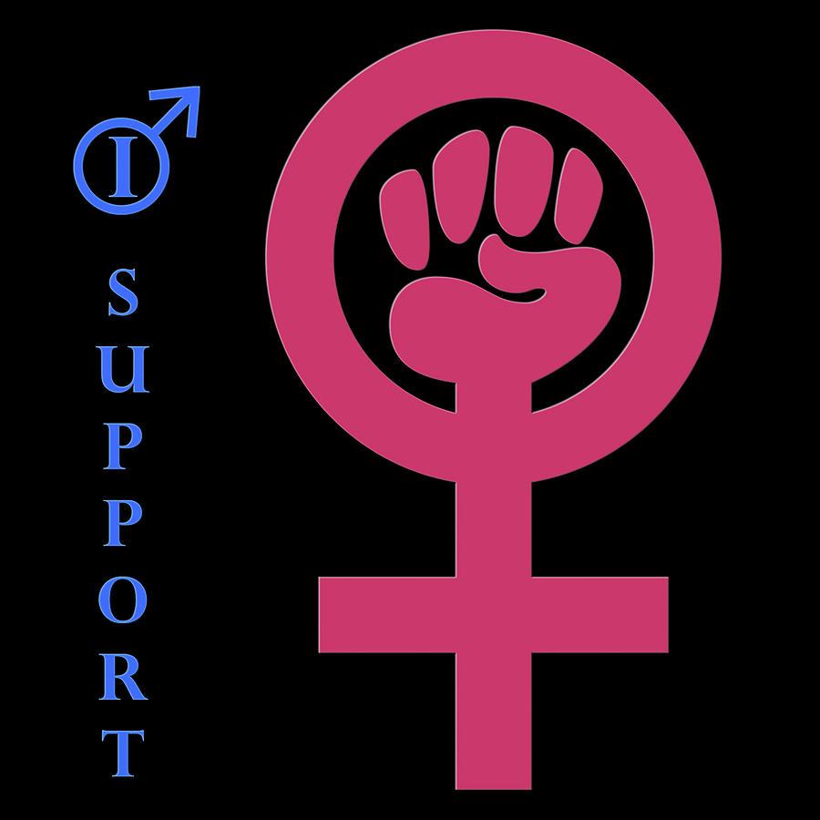 I Support Womens Rights Digital Art