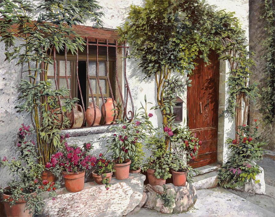 Street.landscape Painting - I Vasi Dietro La Grata by Guido Borelli