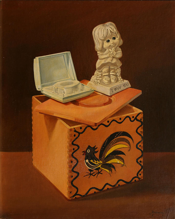 Still Life Painting - I Wuv You by Rosencruz  Sumera