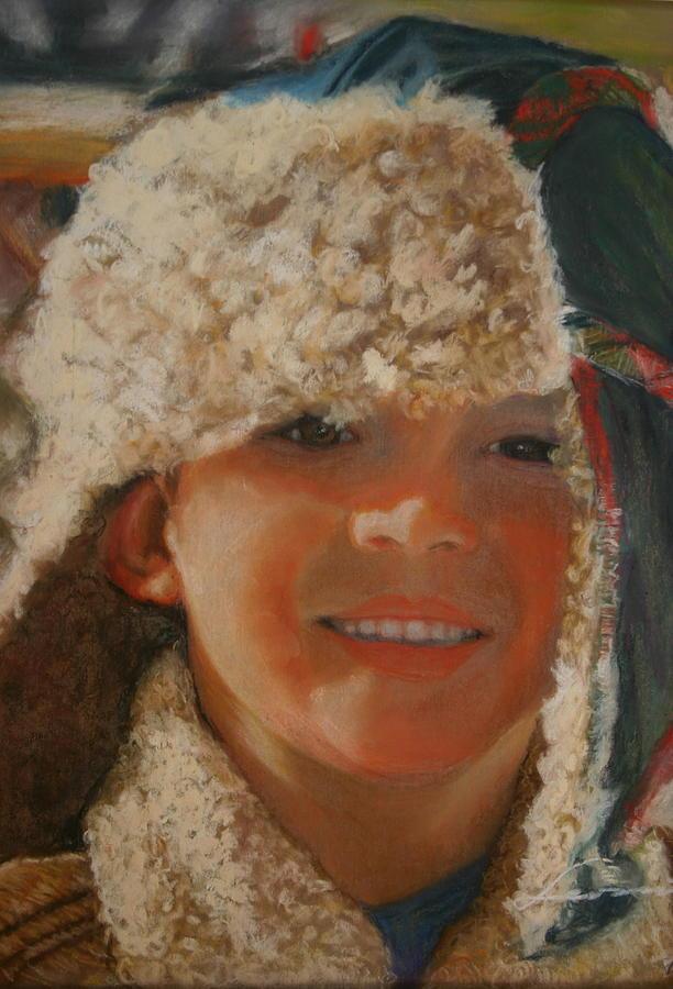 Boy Portrait  Pastel - Ian Portrait by Leonor Thornton