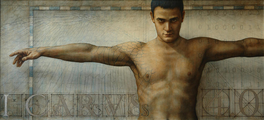Icarus Painting - Icarus 4.0 by Jose Luis Munoz Luque