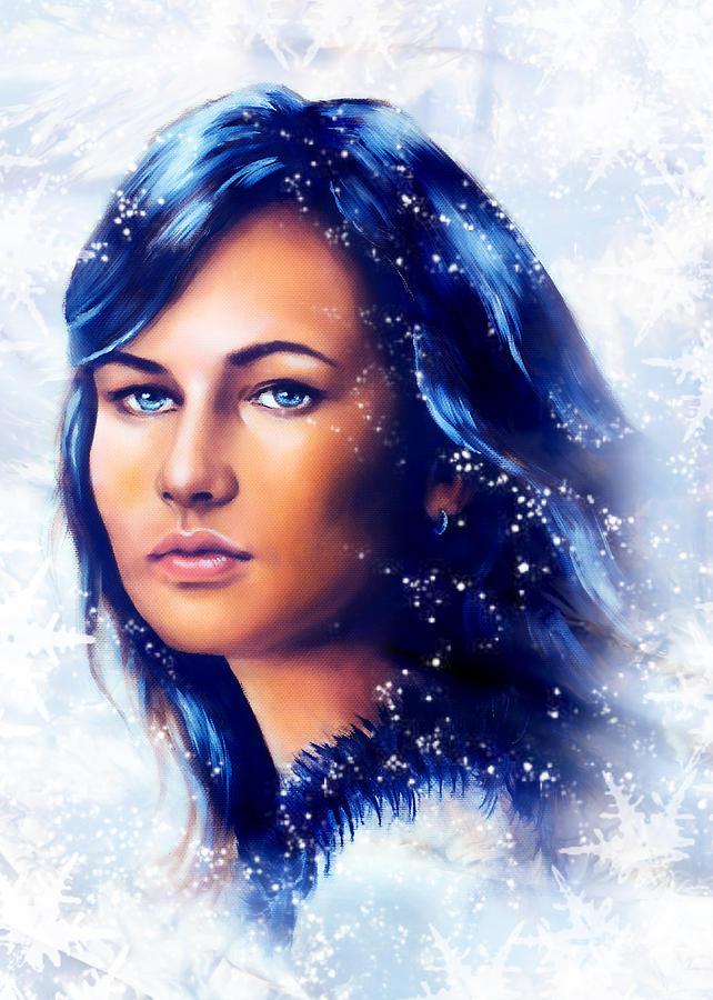 Art Beautiful Woman Winter 88