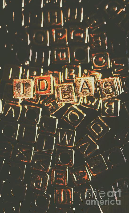 Ideas Letterpress Typography Photograph