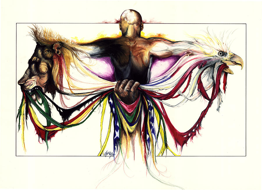 Men Drawing - Identity Crisis by Anthony Burks Sr