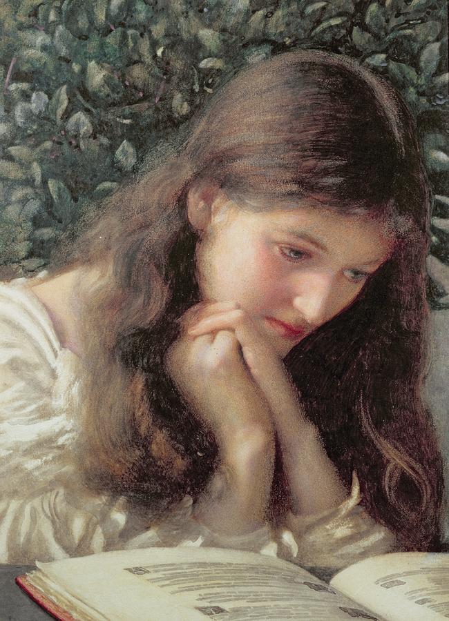 Read Painting - Idle Tears by Edward Robert Hughes