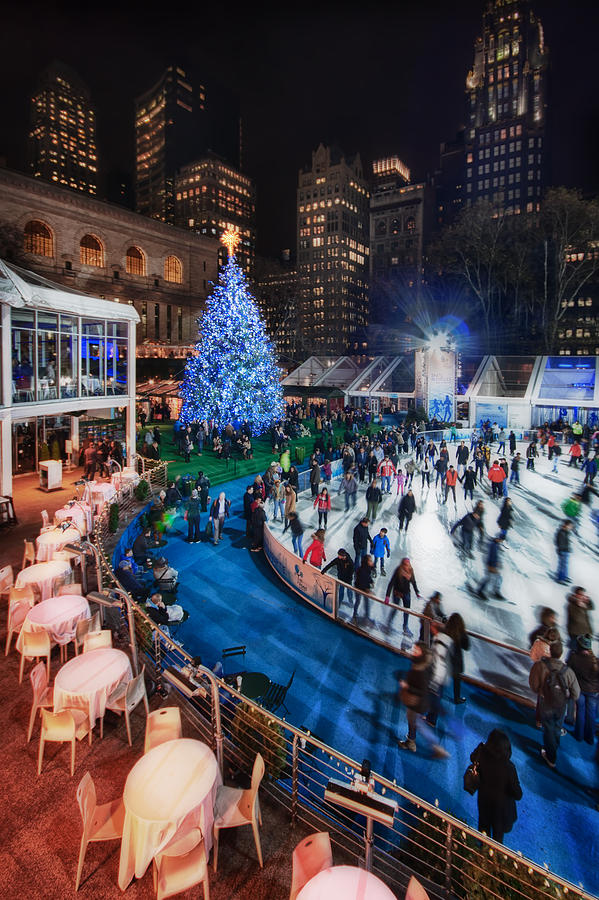 Bryant Park Photograph - If I Could Make December Stay by Evelina Kremsdorf